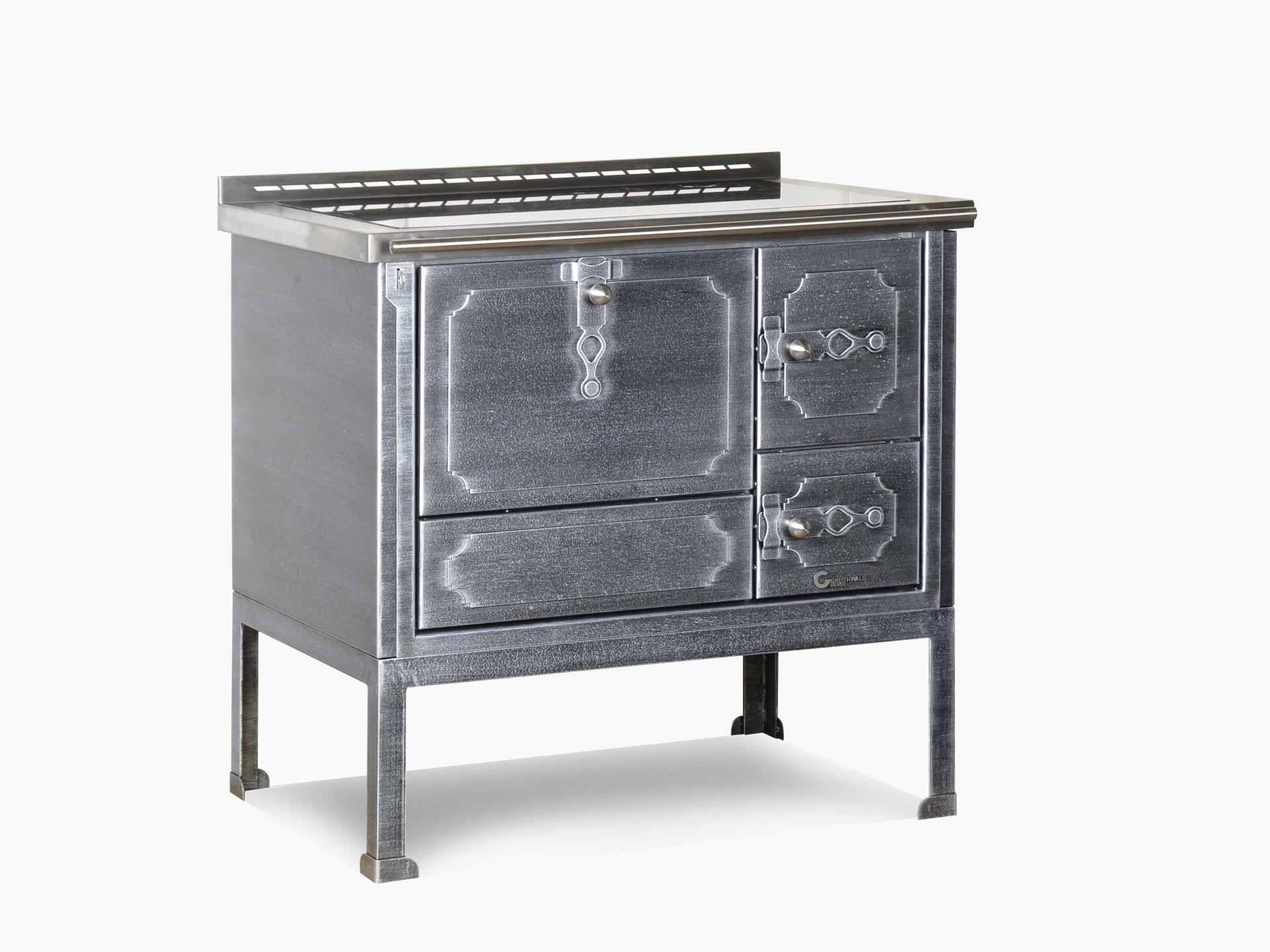 Kochmaschine, Herd, rustikline 90 dec10 argento piccola