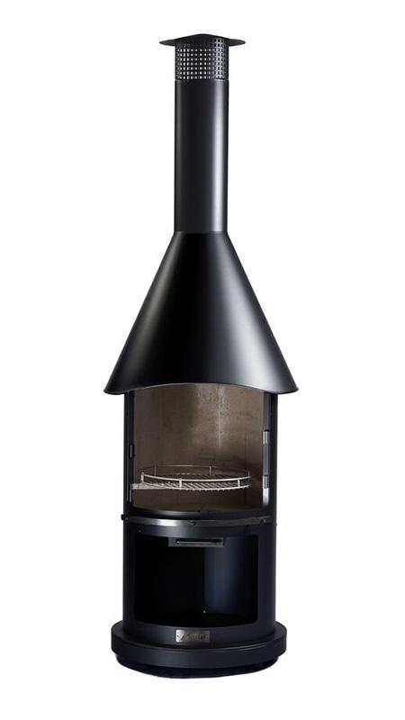 firestar Gartenkamin Kompakt schwarz