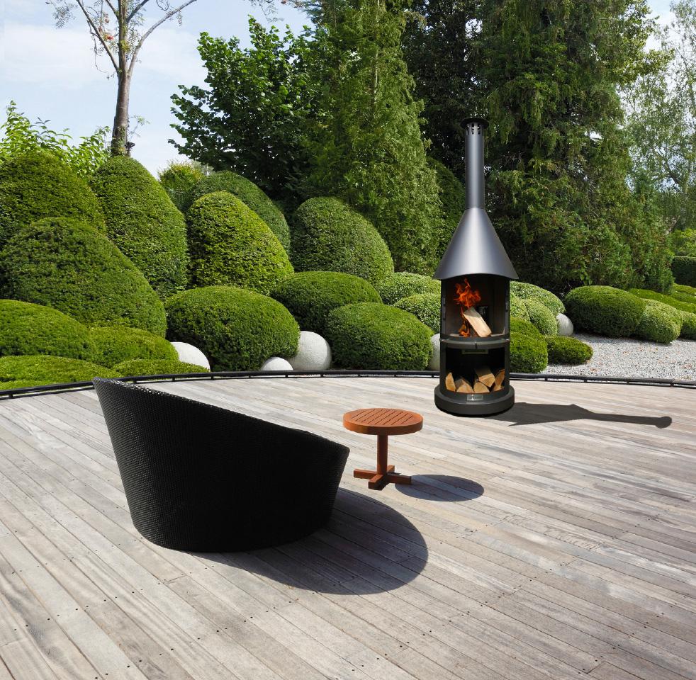 Edelrost-Feuerstelle - Garten, Terrasse