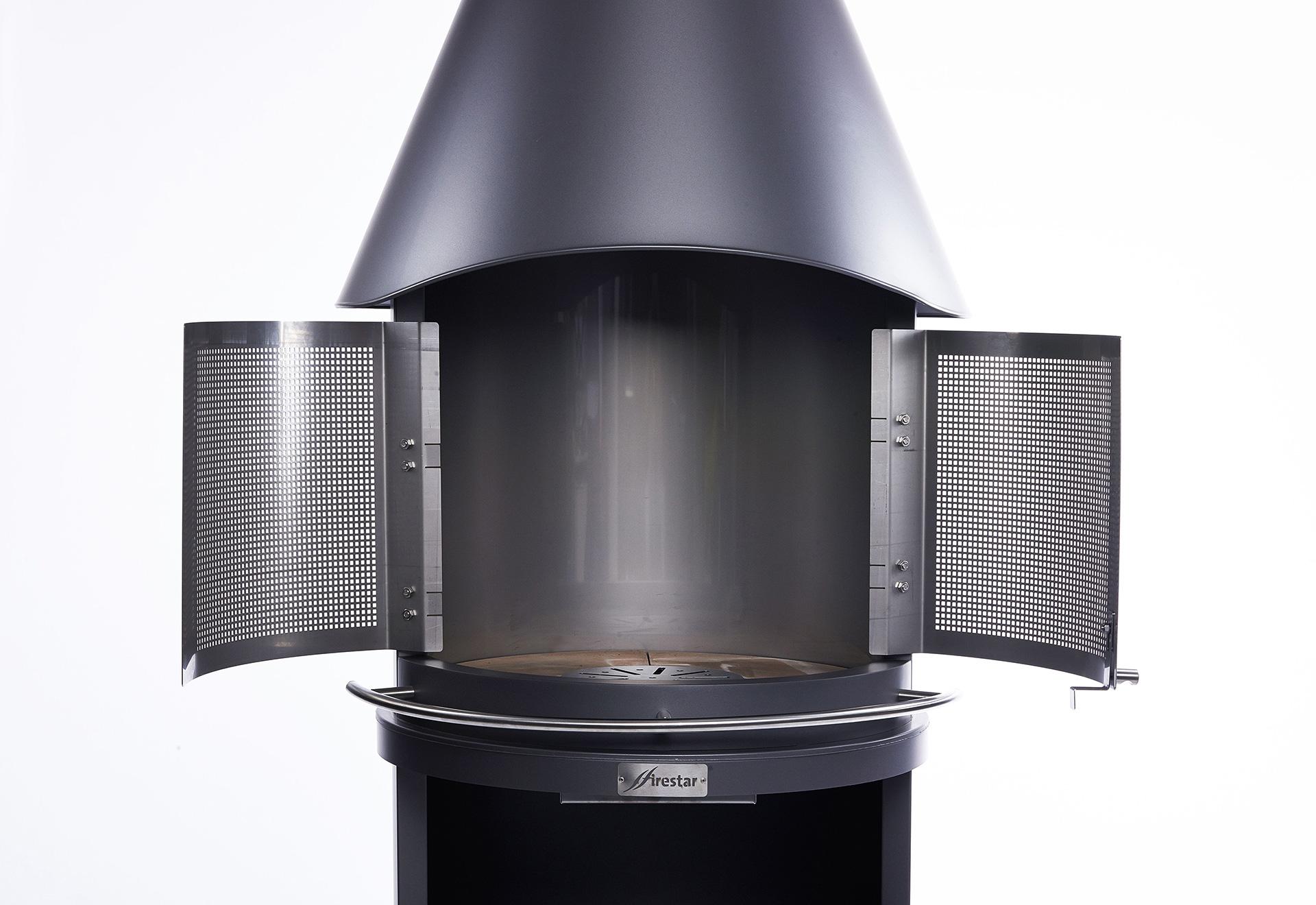 Zubehör Firestar-Gartenkamine - Funkenschutztür 2-teilig für DN 700 und DN 800