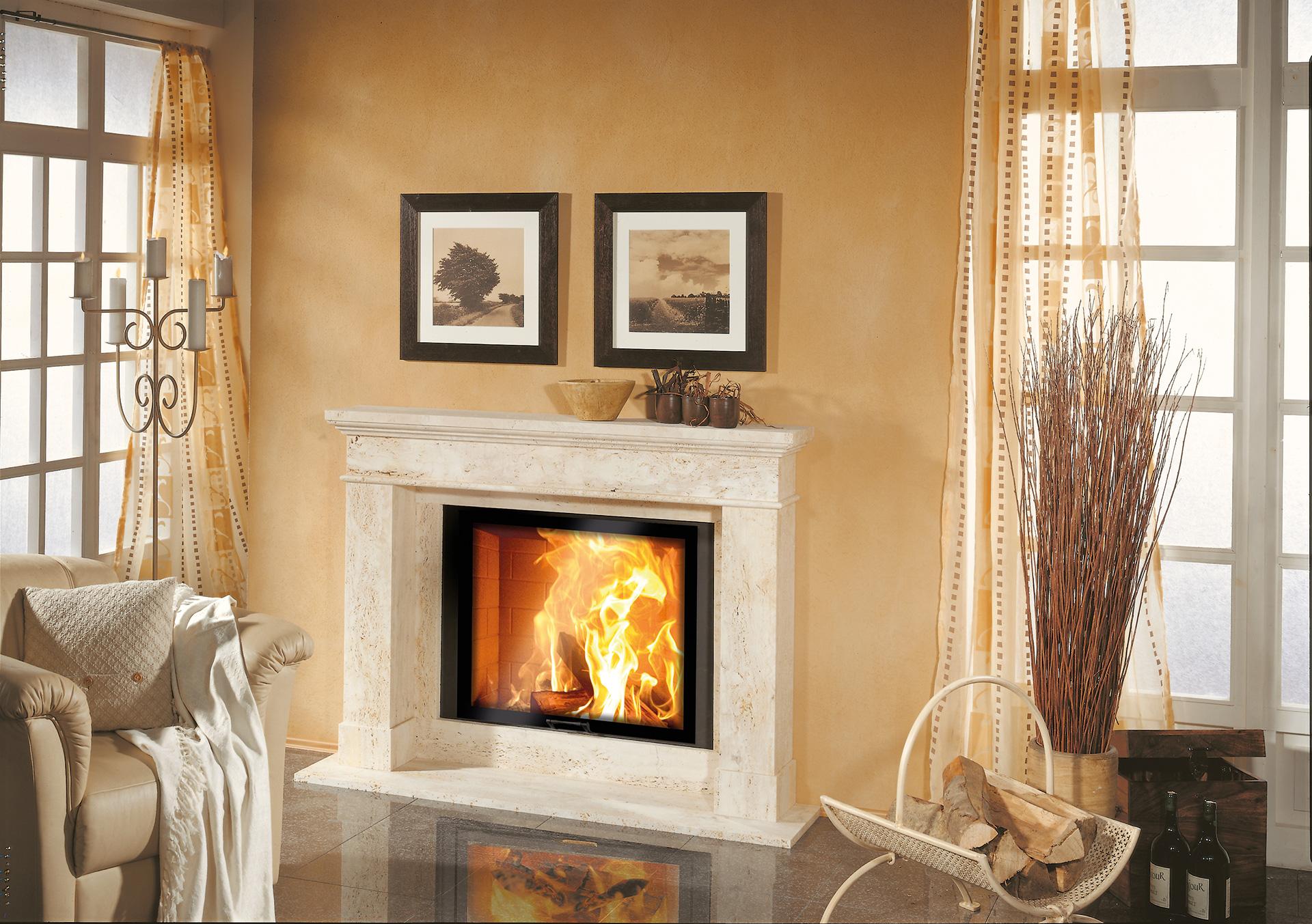 Romantikfeuer, Natursteinkamin klassisch, N13