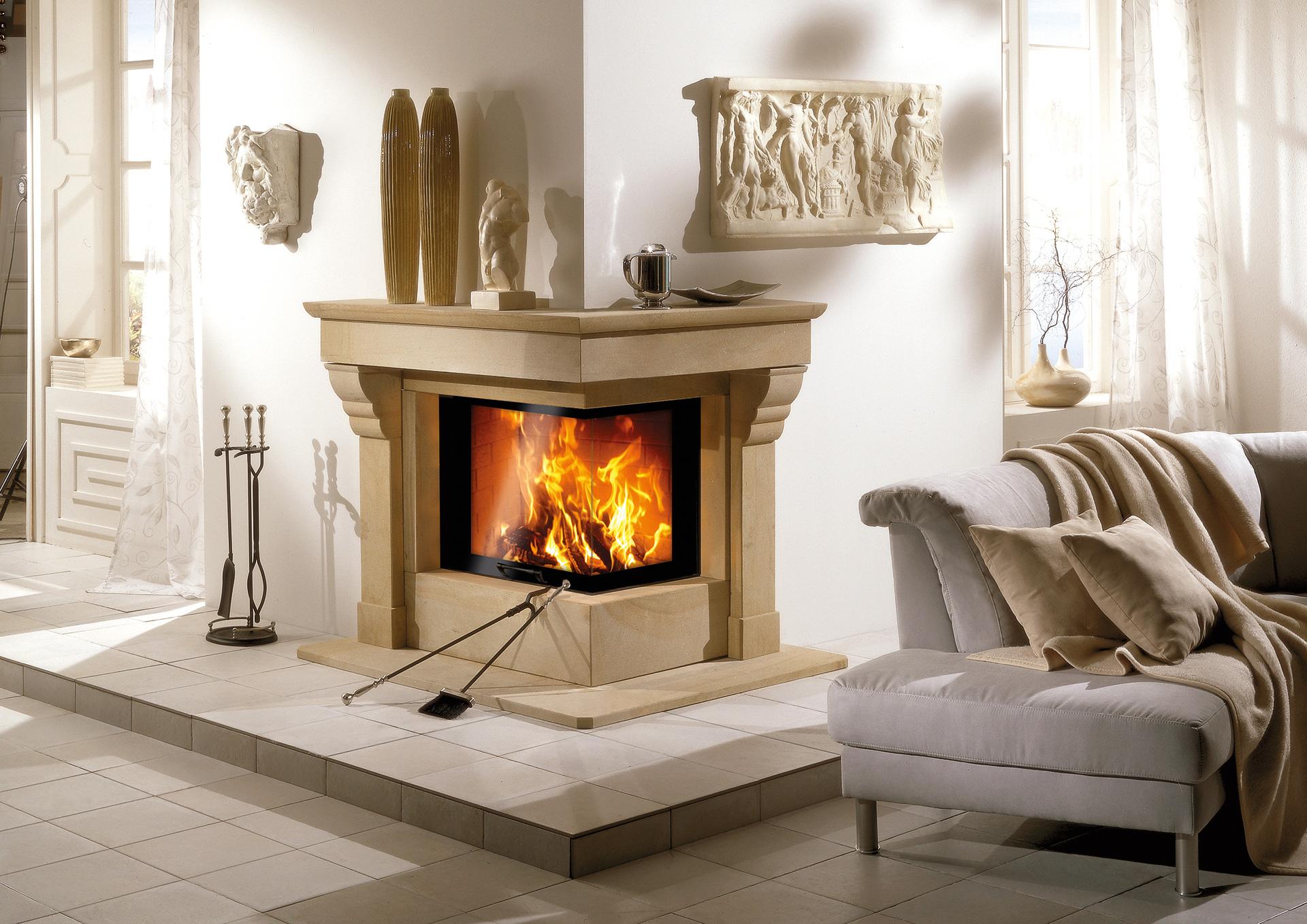 Romantikfeuer, Natursteinkamin klassisch, N17