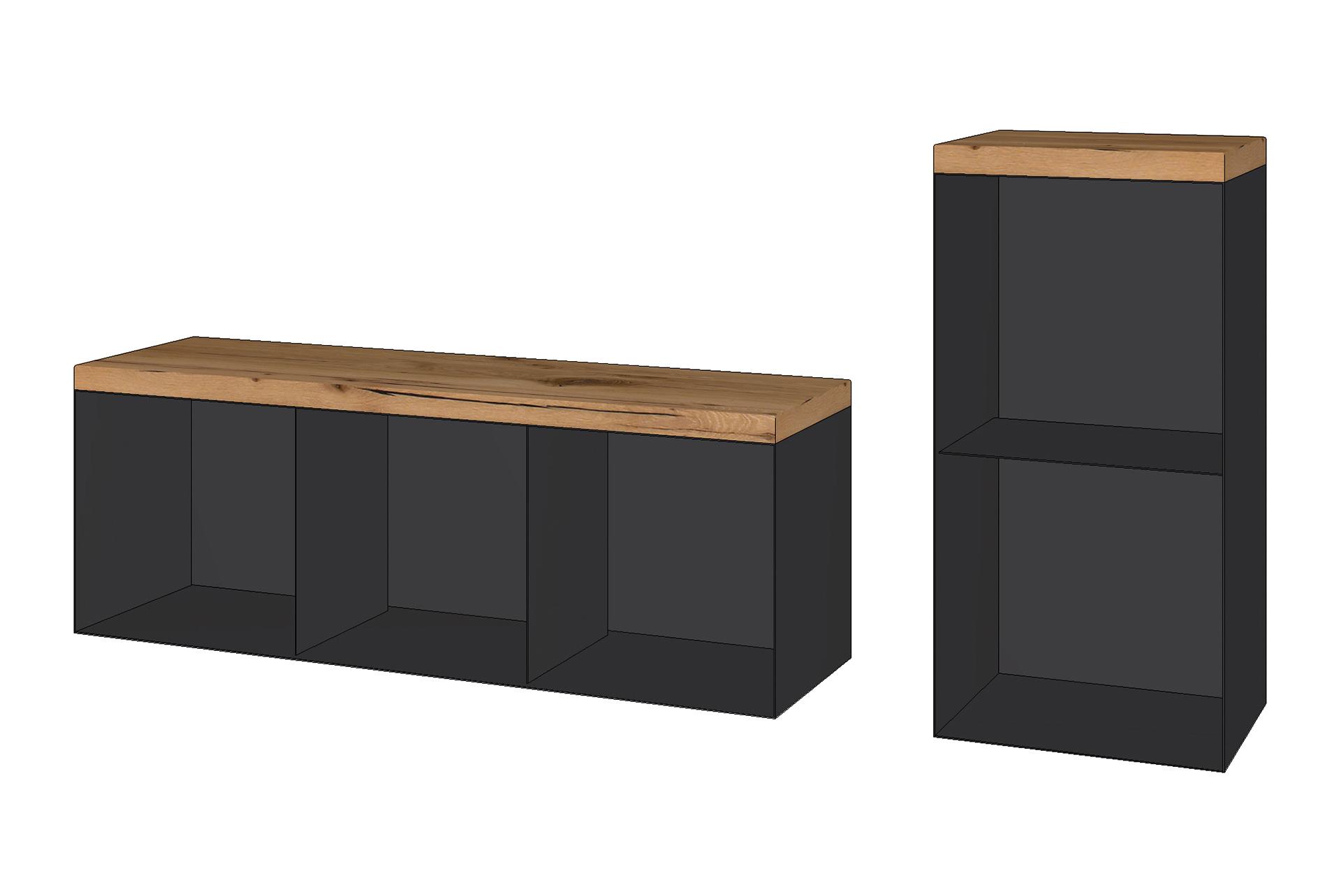 Holzboxen: 3er horizontal und 2er vertikal -Zubehör für Öfen und Kamine