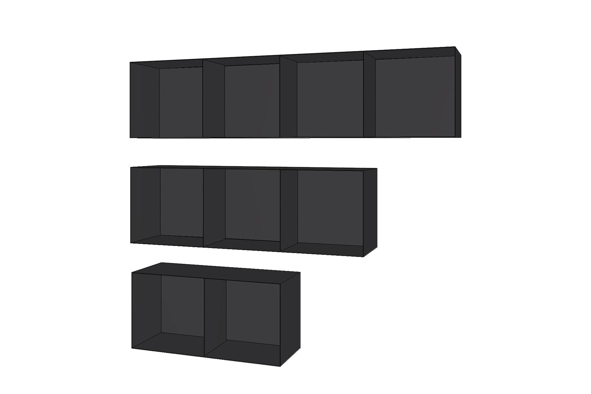 Zubehör für Öfen und Kamine - Holzboxen, 4er, 3er und 2er
